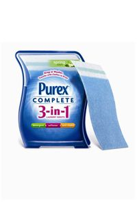 If you're tired of messing with various laundry soaps and chemicals, the 3-in-1 product from Purex may help.