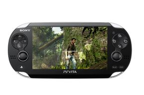The Vita's screen is bigger and more colorful than that of older PS's.