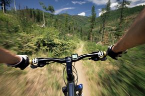 You can mount the Hero3 to your helmet, chest or bike to catch action like this.