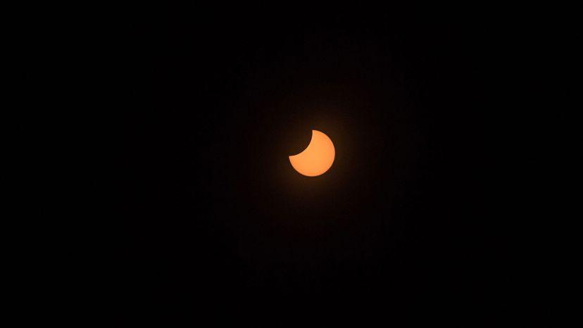 partial solar eclipse, Chile
