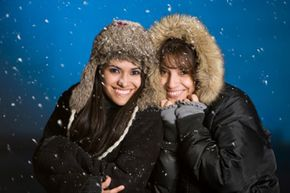 Layering is the best way to stay warm when the weather gets cold. See pictures of winter sports.