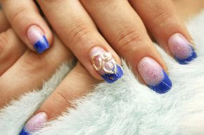 Embellishments on your nails -- like jewels and glitter -- are all the rage now.