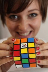The Rubik's Cube, the world's most famous 3-D puzzle.