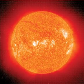 Astronomers sometimes use light that can't be seen by humans to learn more about objects in space. This picture of the sun was taken using only ultraviolet light. As you can tell, it looks different from a picture using visible light. See more space exploration pictures.