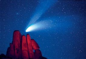 You don't have to be a professional astronomer to discover a comet. Comet Hale-Bopp, which put on a spectacular sky show in 1997, was discovered by American amateur astronomers Alan Hale and Thomas Bopp.