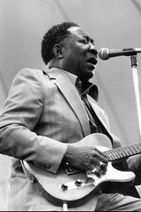 American blues artist McKinley Morganfield, better known as Muddy Waters, circa 1979