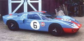 John Wyer's Gulf Oil-sponsored light blue-and-orange team cars astounded -- and confounded -- the racing establishment by winning at Le Mans in 1968 and 1969 with a supposedly obsolete car.