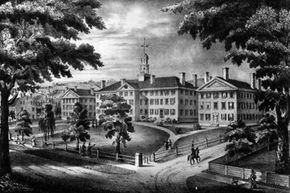 Dartmouth College in New Hampshire, circa 1819, the time and region Stephen Burroughs was busy making a name for himself as a legendary rogue.