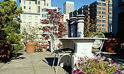 A rooftop garden is a real urban oasis. See more pictures of famous gardens.