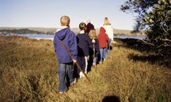 Hiking is always a fun camping activity for kids and adults.
