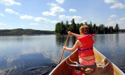 Canoeing is another fun activity for kids while camping.