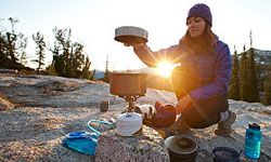 Camping stoves are lightweight and effective.