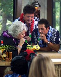 Paula Deen (shown here with her sons) overcame incredible odds to become one of the most famous chefs in the world.