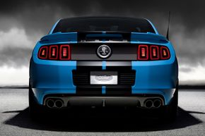 The 2013 Ford Shelby GT500 has a 5.8-liter supercharged V-8 engine producing 650-horsepower and 600 lb.-ft. of toque -- and a new quad exhaust system.