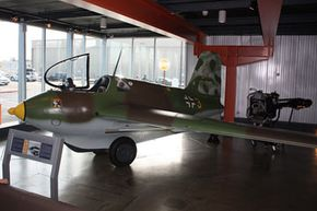 """Some experts believe the Luftwaffe's rocket-powered Messerschmitt 163 Komet may have been classified as a """"foo fighter"""" by Allied pilots."""