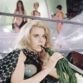 """Orbital intercourse will most likely involve interlocking garments, anchoring Velcro straps and a great deal of awkwardness. Just go ahead and forget anything you saw in """"Barbarella."""""""