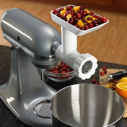 With a grinder attachment for your mixer, your food processor could become obsolete.
