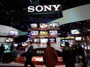 """索尼在CES 2009的展位""""border="""