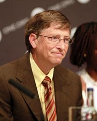 Bill Gates -- seen here at a ONE Campaign press conference in June 2009 -- is the source of a number of myths.