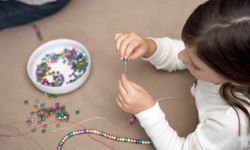 Just be mindful of choking hazards during a beading fest!