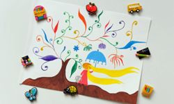 To round out the project, have each child create some art to stick up with their magnet.