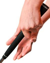 A lighter grip can give you better control of your golf swing.