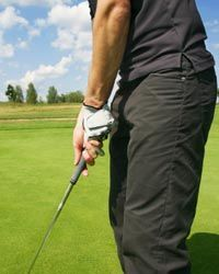 Many golfers wear gloves on their strong hand.