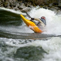 A kayaker on the Lochsa River in Idaho