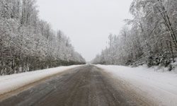 This road is actually safer in the winter when it's frozen than in the summer when it's muddy.