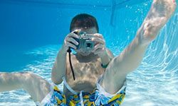 That's right -- your kid can snap underwater pics with this camera.
