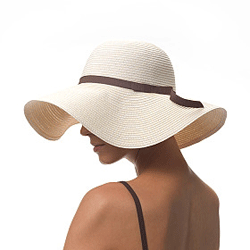 Yes, floppy hats help keep the sun off, but they're also incredibly chic.