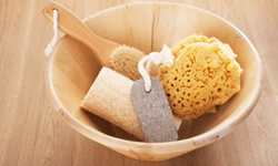 A good scrubbing with the right exfoliants will help slough off dead skin cells.