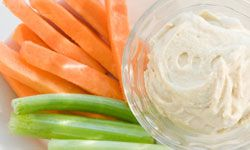 Fun means easy, right? And what's easier than dipping carrots in hummus? See more vegetables pictures.
