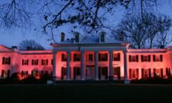 The governor's mansion in Princeton, N.J., is illuminated in red light in preparation of the American Heart Association's Wear Red Day for Women, a national awareness campaign designed to focus on heart disease. See more heart health images.