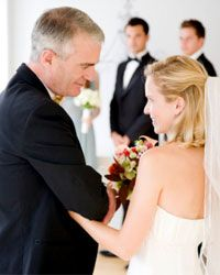 In the U.S., fathers traditionally escort daughters down the aisle at weddings.