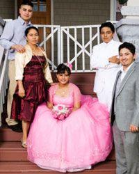 Hispanic girls celebrate their 15th birthdays with quinceañeras.