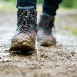 You'll be thankful for a waterproof pair of boots and wool socks as you slop through this.