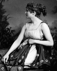 Actress Mary Anderson as ancient mathematician Hypatia