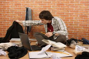 Don't be like this guy. Stay focused, organized and neat while filling out and submitting financial aid applications.