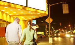 Movies, concerts and live theater are always ideal options for any first date.