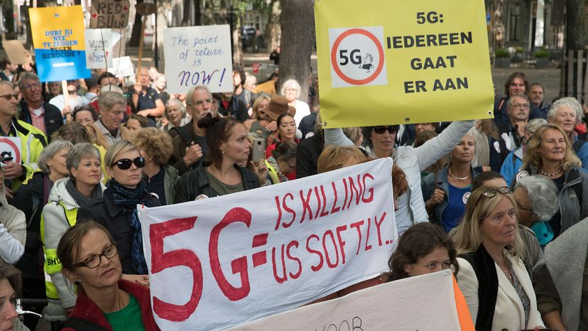 protest against 5G