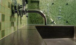 Concrete makes for a versatile countertop.