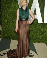 Maxi skirts are as diverse as they are fashionable. Here, actress January Jones dons a maxi skirt in a retro style.