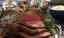 Prime rib is delicious, but it definitely isn't cheap. See some international holiday foods pictures.