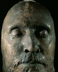 Cast faces, like this one of Oliver Cromwell, appeared in the cement flooring of Maria Gomez's home in Spain.
