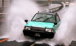 Always drive with caution on days when there will be a lot of water on the roads -- and try to avoid large puddles.