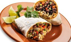 You'll never miss the meat in this yummy burrito!