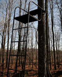 Use caution when you get in or out of a tree stand.