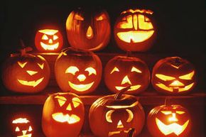 Experiment with jack-o-lantern designs to give each pumpkin its own personality and expression.