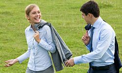 A walking meeting is a great way to squeeze exercise into your busy workday.